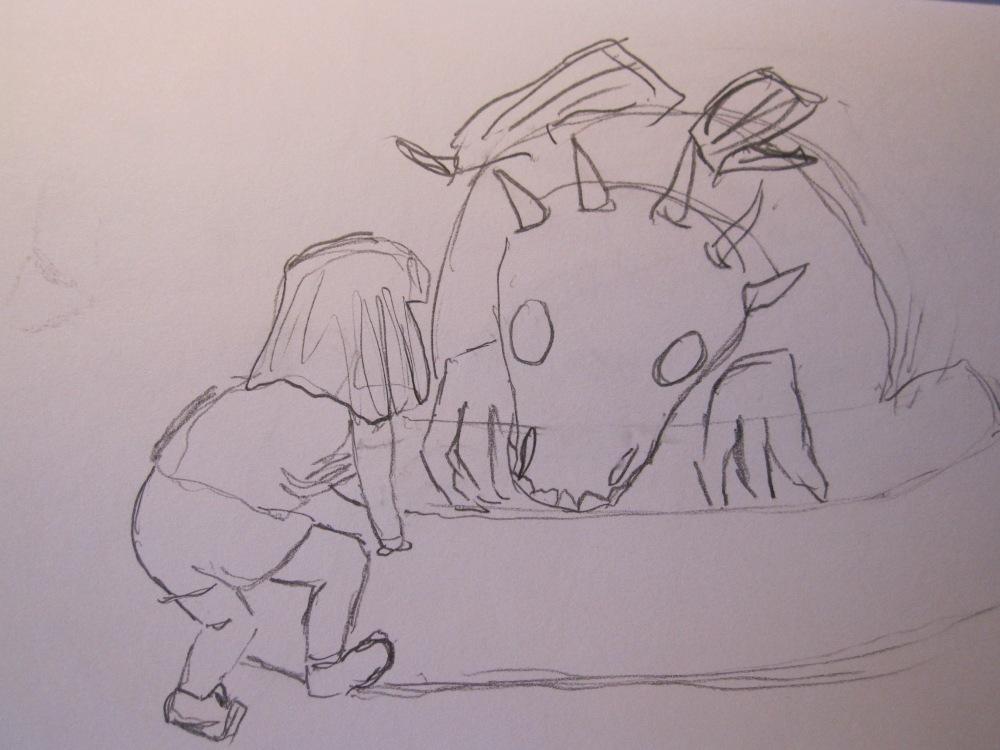 Custard the Dragon Sketches (5/5)