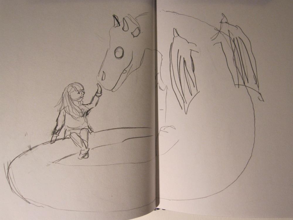 Custard the Dragon Sketches (4/5)
