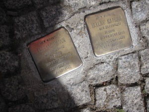 Markers for where Jews lived before the Holocaust